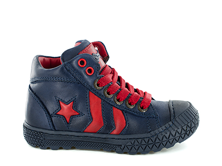 NIELS calf navy + red