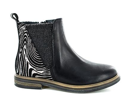 GILLA vit - zebra black + silver