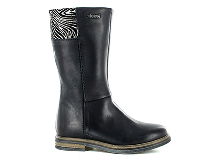 GINNA vit - zebra black + silver