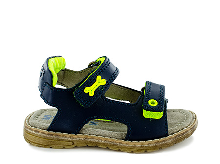 DADO calf navy + yellow fluo