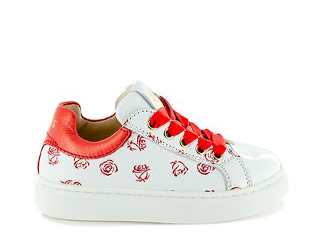 FLORA vit - rose white + red
