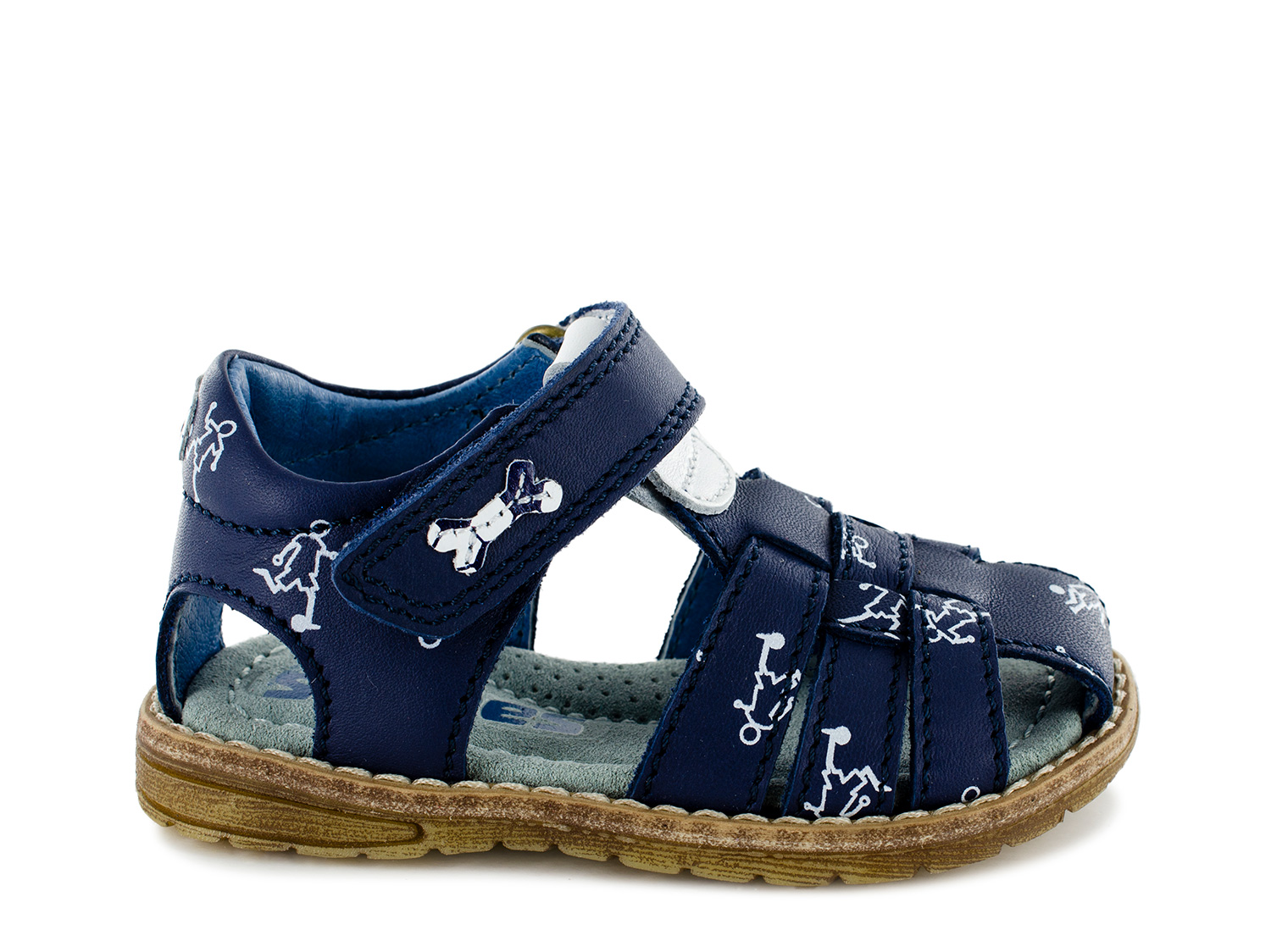 DOCU vit navy + white