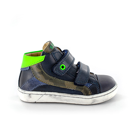 ZEKE vitello navy + green fluo