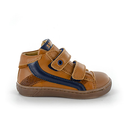 ZEKE vitello cognac + navy