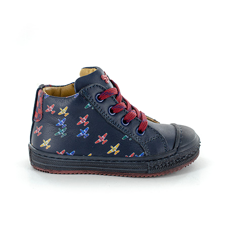 VOLC calf navy + cherry