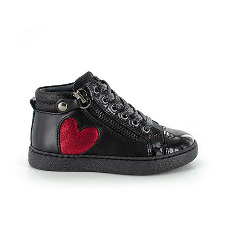 ERICA calf black + red