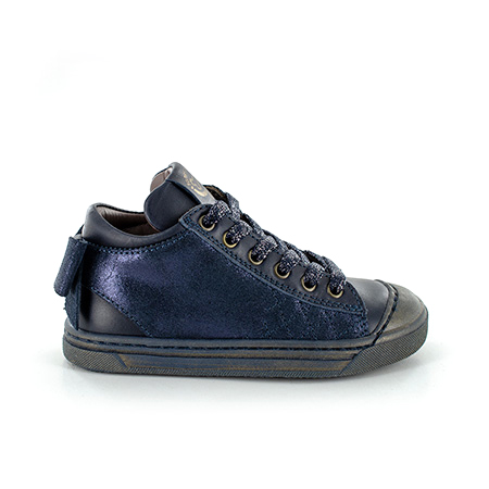 MAGGY calf - metal navy