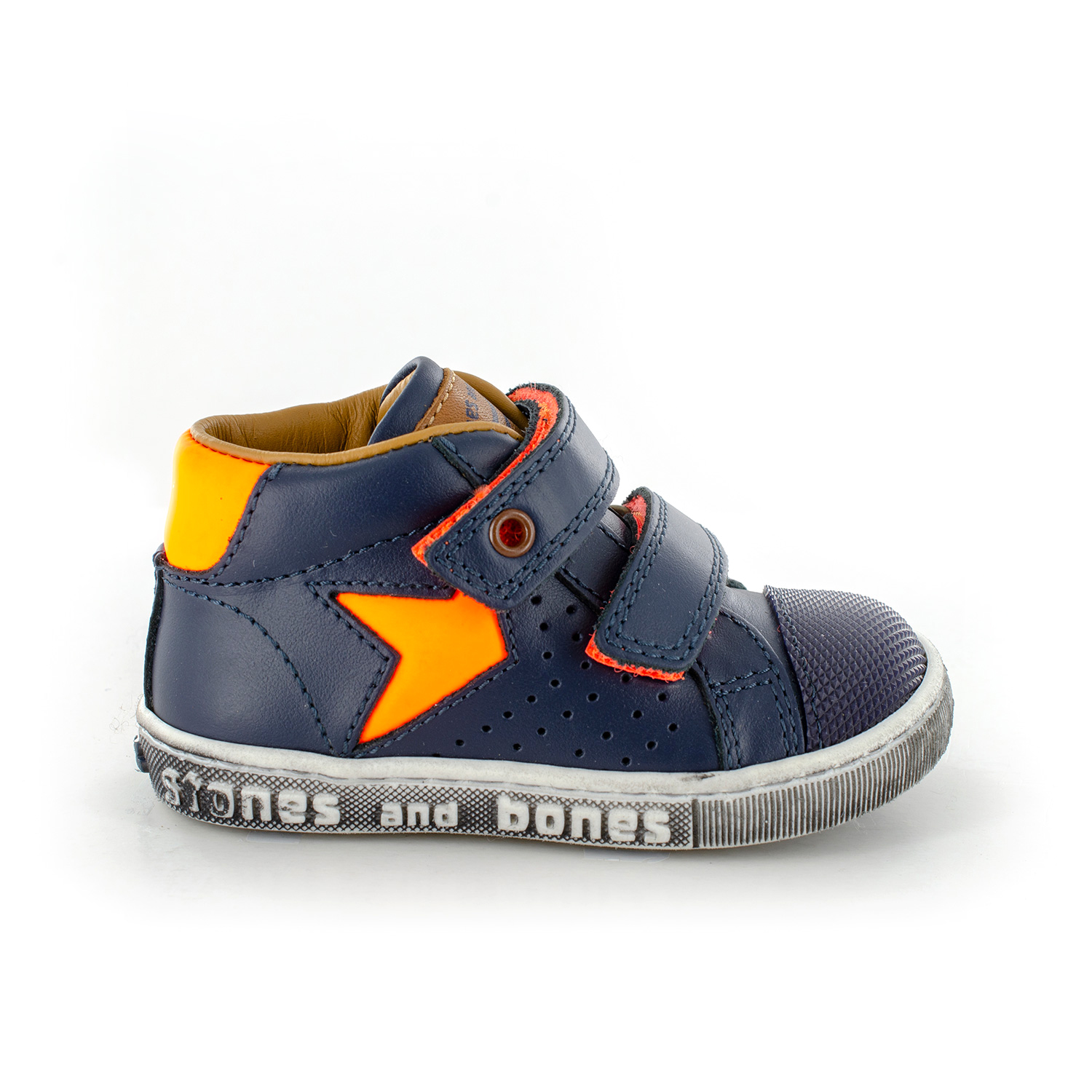 MENO calf navy + f.orange