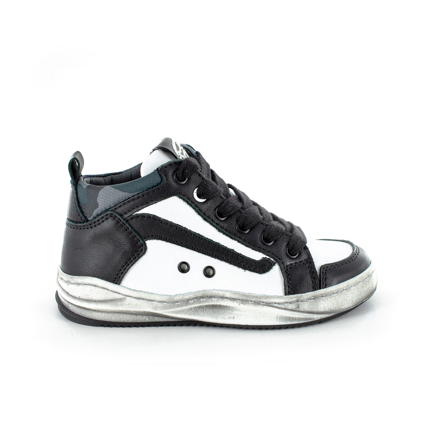 BAKAR calf black + white