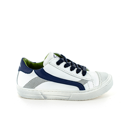 MAUST calf white + navy