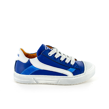 MAUST calf electric blue + white