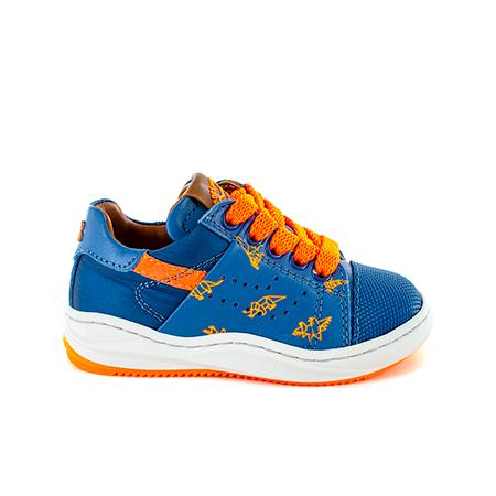 ARRI calf-print l.blue + orange fluo