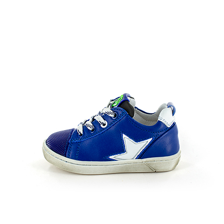 ZOAR calf electric blue + white