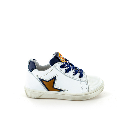 ZOAR calf white + navy