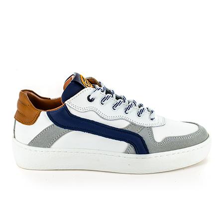 CESTO calf white + navy
