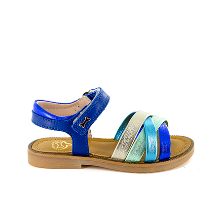 MARLE calf - metal electric blue