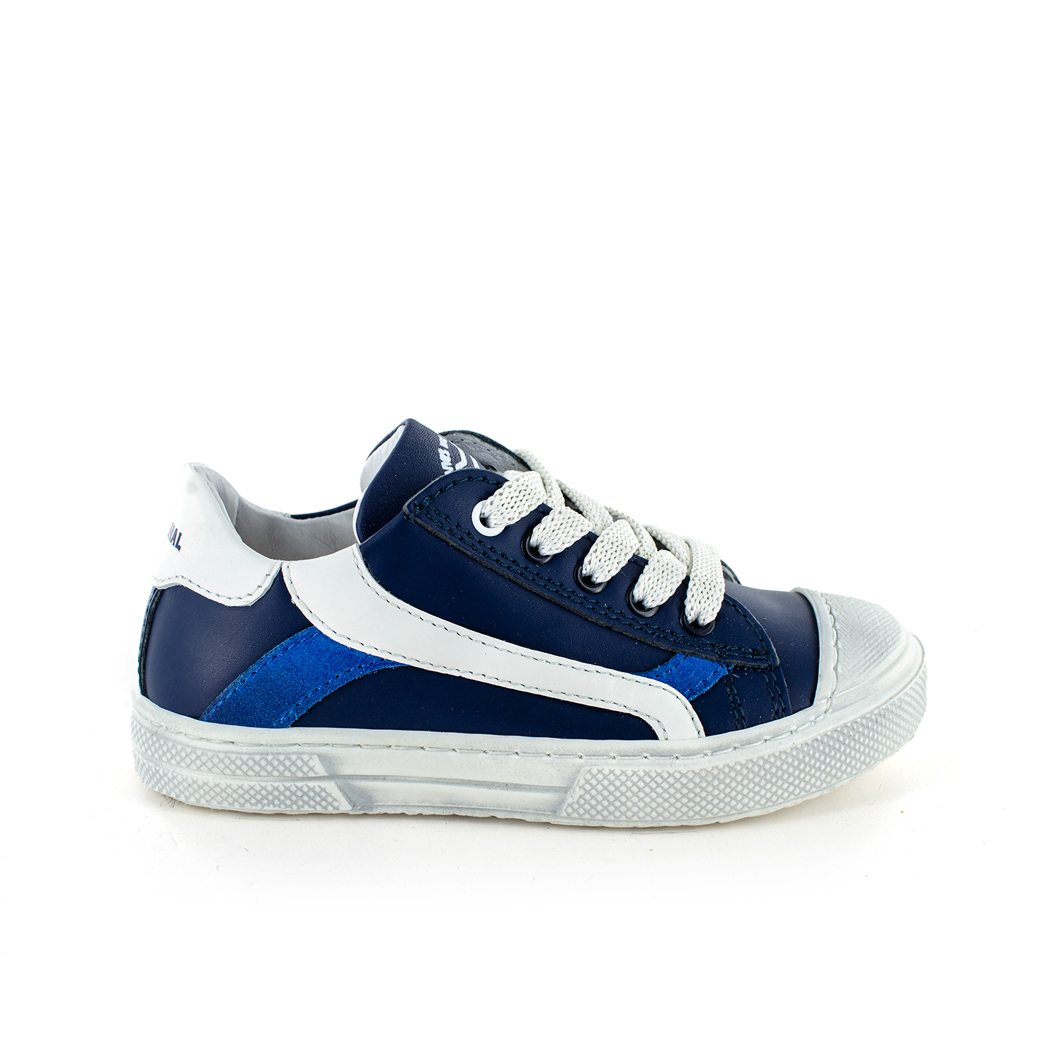 MAUST calf navy + white