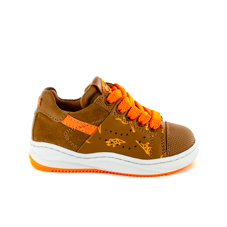 ARRI calf-print cuoio + orange fluo