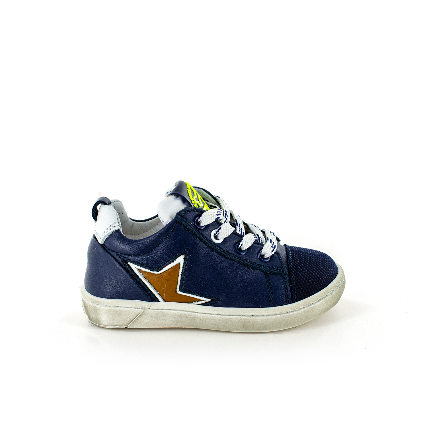 ZOAR calf navy + white