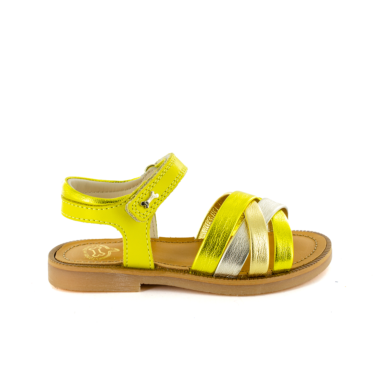 MARLE calf - metal yellow