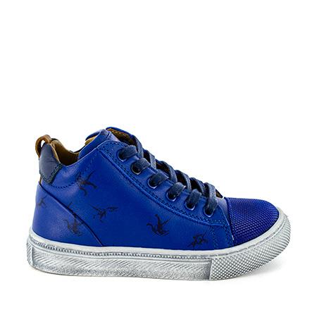 TRUST calf electric blue + navy