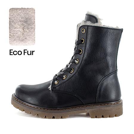FURIAN/W calf - eco fur black