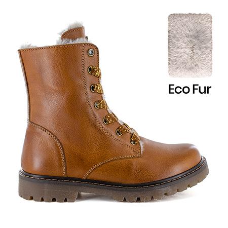 FURIAN/W calf - eco fur cuoio