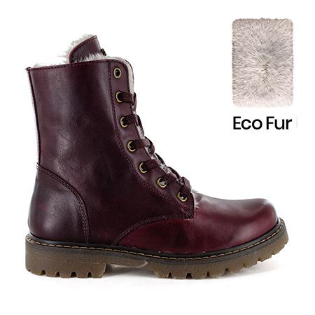 FURIAN/W calf - eco fur bordo