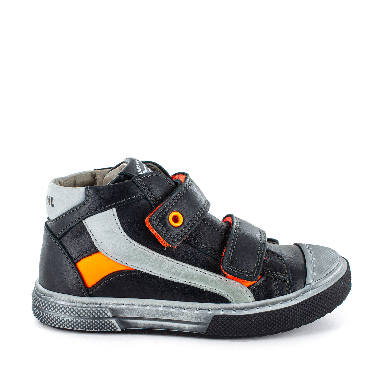 RENTO calf black + orange fluo