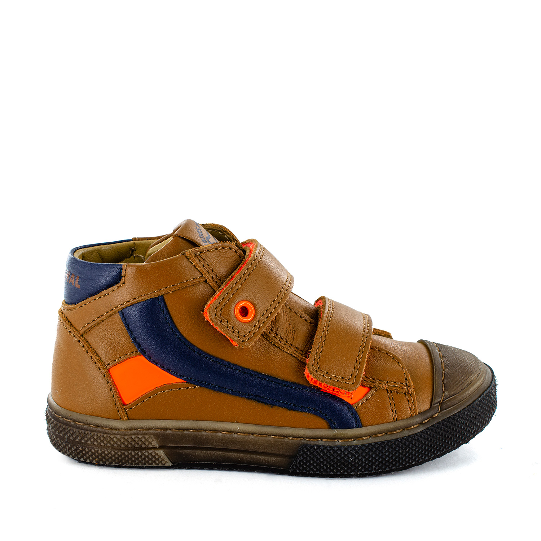 RENTO calf cuoio + orange fluo