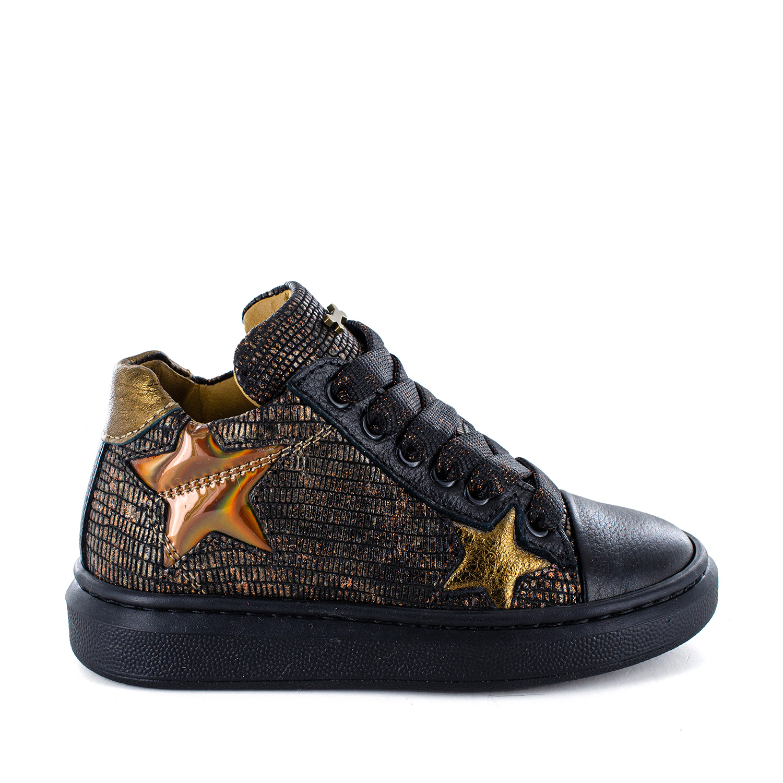 ROYSE calf - lizard black + bronze