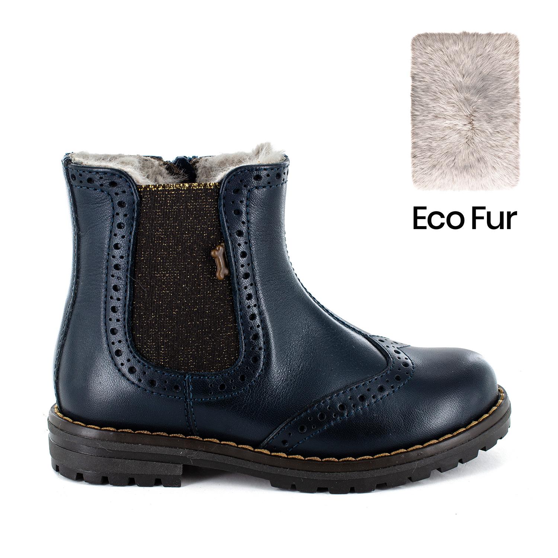 TEMAR/W calf - eco fur navy